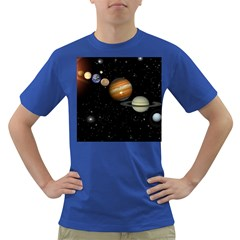 Outer Space Planets Solar System Dark T Shirt