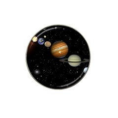 Outer Space Planets Solar System Hat Clip Ball Marker (4 Pack)