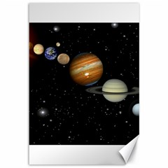 Outer Space Planets Solar System Canvas 12  X 18
