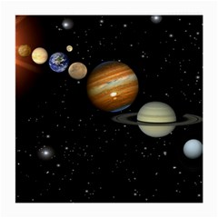 Outer Space Planets Solar System Medium Glasses Cloth (2 Side)