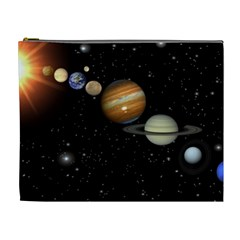 Outer Space Planets Solar System Cosmetic Bag (xl)