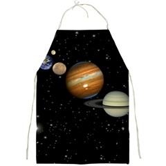 Outer Space Planets Solar System Full Print Aprons