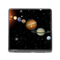 Outer Space Planets Solar System Memory Card Reader (square)