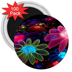 Nice 3d Flower 3  Magnets (100 Pack)