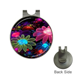 Nice 3d Flower Hat Clips With Golf Markers