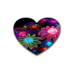 Nice 3d Flower Rubber Coaster (heart)