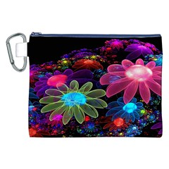 Nice 3d Flower Canvas Cosmetic Bag (xxl)