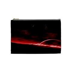Outer Space Red Stars Star Cosmetic Bag (medium)