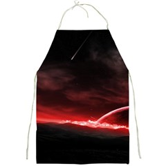 Outer Space Red Stars Star Full Print Aprons