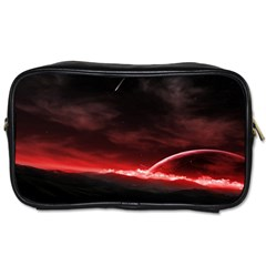 Outer Space Red Stars Star Toiletries Bags 2 Side