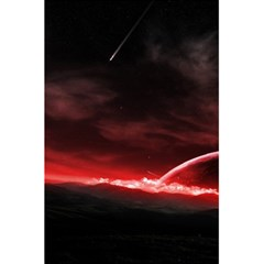 Outer Space Red Stars Star 5 5  X 8 5  Notebooks