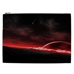 Outer Space Red Stars Star Cosmetic Bag (xxl)
