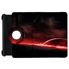 Outer Space Red Stars Star Kindle Fire Hd 7