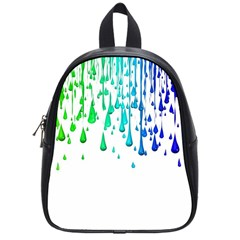 Paint Drops Artistic School Bags (small)