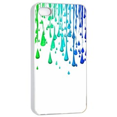 Paint Drops Artistic Apple Iphone 4/4s Seamless Case (white)