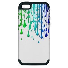 Paint Drops Artistic Apple Iphone 5 Hardshell Case (pc+silicone)