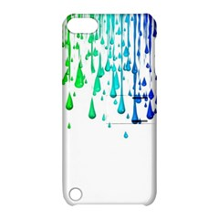 Paint Drops Artistic Apple Ipod Touch 5 Hardshell Case With Stand