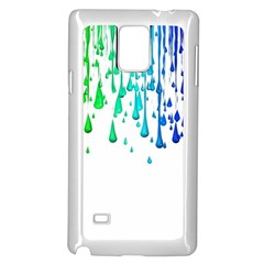 Paint Drops Artistic Samsung Galaxy Note 4 Case (white)