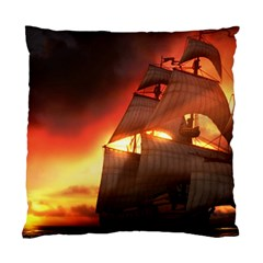 Pirate Ship Caribbean Standard Cushion Case (two Sides)