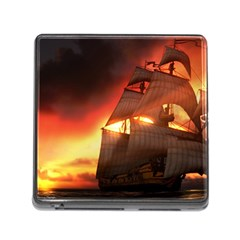 Pirate Ship Caribbean Memory Card Reader (square)