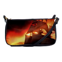 Pirate Ship Caribbean Shoulder Clutch Bags