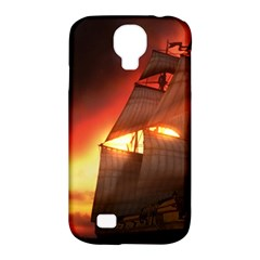 Pirate Ship Caribbean Samsung Galaxy S4 Classic Hardshell Case (pc+silicone)