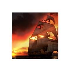 Pirate Ship Caribbean Satin Bandana Scarf