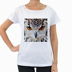 Owl Face Women s Loose Fit T Shirt (white)