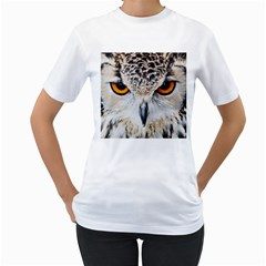 Owl Face Women s T Shirt (white)