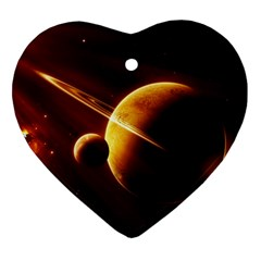 Planets Space Ornament (heart)
