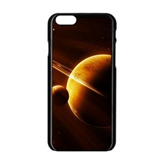 Planets Space Apple Iphone 6/6s Black Enamel Case