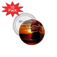 Pirate Ship 1 75  Buttons (10 Pack)
