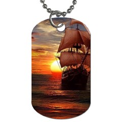 Pirate Ship Dog Tag (one Side)