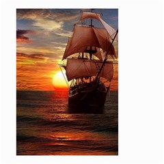 Pirate Ship Small Garden Flag (two Sides)