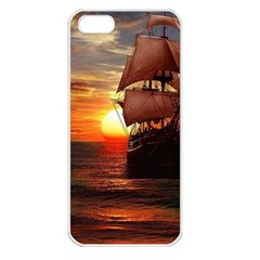Pirate Ship Apple Iphone 5 Seamless Case (white)