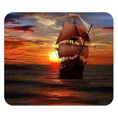 Pirate Ship Double Sided Flano Blanket (small)
