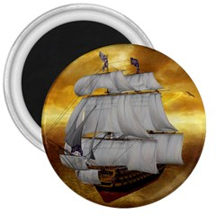Pirate Ship 3  Magnets