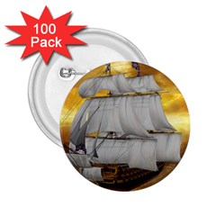 Pirate Ship 2 25  Buttons (100 Pack)