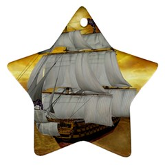 Pirate Ship Star Ornament (two Sides)