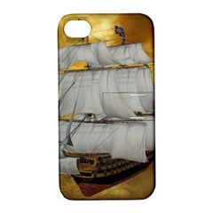 Pirate Ship Apple Iphone 4/4s Hardshell Case With Stand