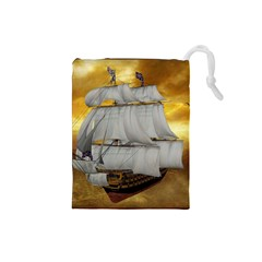 Pirate Ship Drawstring Pouches (small)