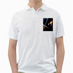 Planets In Space Golf Shirts