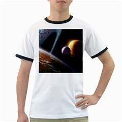 Planets In Space Ringer T Shirts