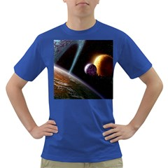 Planets In Space Dark T Shirt