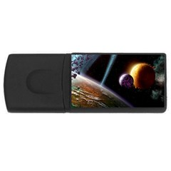 Planets In Space Usb Flash Drive Rectangular (4 Gb)