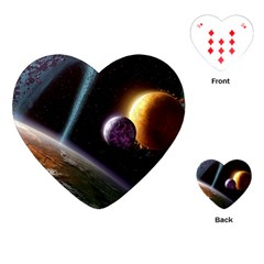 Planets In Space Playing Cards (heart)