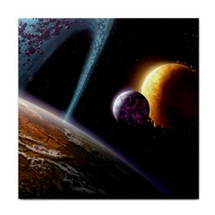 Planets In Space Face Towel