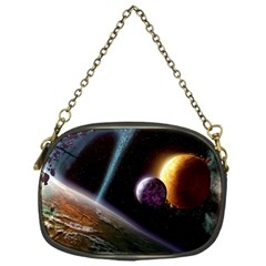 Planets In Space Chain Purses (one Side)