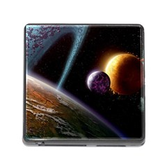 Planets In Space Memory Card Reader (square)
