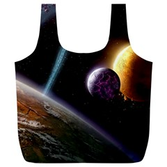 Planets In Space Full Print Recycle Bags (l)